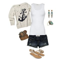 Casual, created by #lindsymonique on #polyvore. #fashion #style American Vintage Hollister Co.