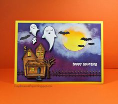 Lawn Fawn - Happy Haunting _ amazing halloween card by Cathie at Daydreams In Paper: Happy Haunting