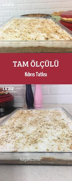 Tam Ölçülü Kıbrıs Tatlısı - Well Tutorial and Ideas Cookie Recipes, Dessert Recipes, Dessert Food, Tasty, Yummy Food, Vegan Cake, Confectionery, Themed Cakes, Cake Designs