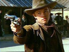 Leonardo DiCaprio has gone from teenage heartthrob to critically acclaimed actor over the course of his long career. 1995 Movies, Young Leonardo Dicaprio, Weird Gif, Western Movies, Mountain Man, Wild West, Beautiful Boys, Funny Photos, My Idol