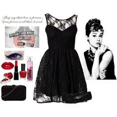 """James Dean and Audrey Hepburn"" by molly-massacre on Polyvore"