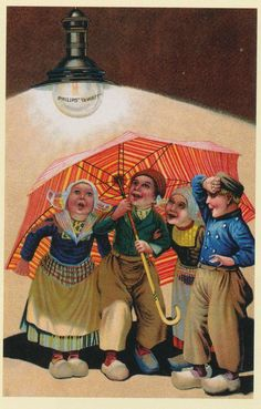 Old Poster for Phillips with Dutch Children....love the expressions on their faces!