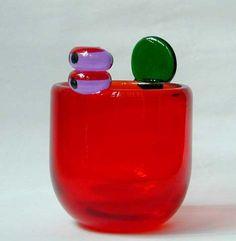 Oiva Toikka (born 1931)  A Glass Pompom Vase