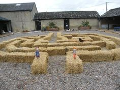 We designed this from around 70 hay bales and the kids had a great time charging round! www.SouthAngleFarmPark.co.uk