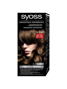 syoss color professional permanent coloration 5 8 hazelnut brown - Syoss Coloration