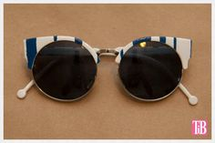Nautical Summer Bash Sunglasses. | 17 Festive DIY Sunglasses