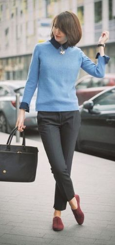 15 Stunning Casual Work Outfits For Women - Eweddingmag.com Casual Work Outfits, Winter Outfits For Work, Business Casual Outfits, Office Outfits, Work Attire, Work Casual, Womens Fashion For Work, Look Fashion, Winter Fashion