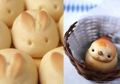 Cute easter bread rolls