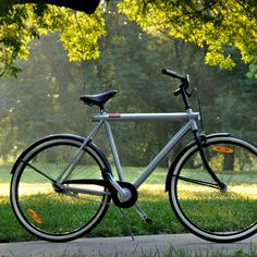 The Vanmoof No. 3 - Revolutionary lightweight, rust-free bicycles with solar-powered lights.