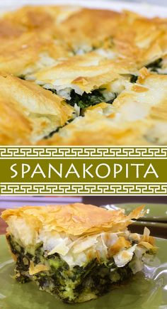 Menounos's Spanakopita (Greek Spinach Pie) This recipe for flaky and delicious spanakopita is perfect for any time of day.This recipe for flaky and delicious spanakopita is perfect for any time of day. Yummy Food, Yummy Mummy, Yummy Eats, Yummy Snacks, Snacks Homemade, Olio Recipe, Spanakopita Recipe, Vegetarian Recipes, Cooking Recipes