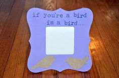 Purple rustic Shabby Chic Bird Quote Love Tabletop by OhSoFooFoo, $20.00