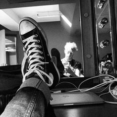 backstage in Montreal! #shoefie