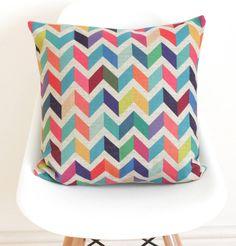 geometric chevron cushion cover by quirkybee | notonthehighstreet.com