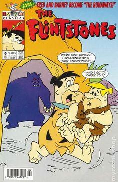 Flintstones, The (Harvey), Edition# 9 Good Cartoons, Famous Cartoons, Classic Cartoons, Retro Cartoons, Vintage Comic Books, Vintage Comics, Comic Frame, Children's Comics, Fred Flintstone