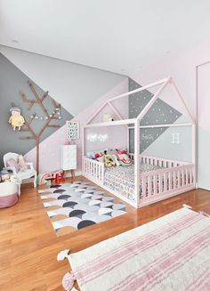 Design the perfect magical space of this fantastic, trendy bedroom - Kinderzimmer - Baby Bedroom, Baby Room Decor, Nursery Room, Girls Bedroom, Baby Girl Bedroom Ideas, Chic Baby Rooms, Bedroom For Girls Kids, Kids Bedroom Designs, Master Bedroom