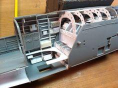 W.I.P. 1/32 B-25 cutaway...bomb bay and top turrent compartment.