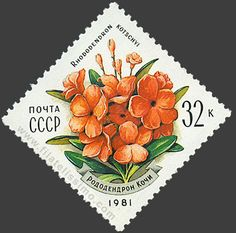 Sello de la flor de Rusia