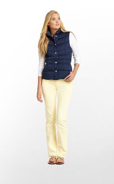 Lauren Puffer Vest in True Navy $188 (w/o 11/3/12) #lillypulitzer #fashion #style