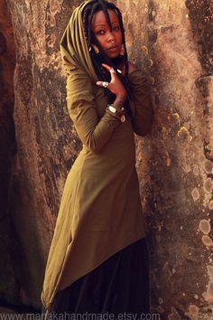 Desert Rose  Hood Dress  Fairy Pixie hooded by manakahandmade, £40.00