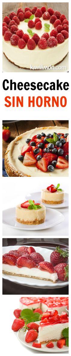 Esta rica receta de cheesecake no requiere de un horno ya que va congelado. Queda buenísimo decorado con frambuesas y acompañado de mermelada de fresas.