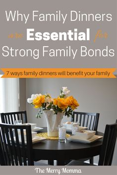 Few practices will go further towards establishing close family bonds than regularly eating together as a family. They're not always easy to make a reality, but their payoffs are enormous. Here are 7 ways they will profoundly impact your family dynamic.