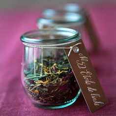 Tea Leaves in Jars - What a beautiful way to decorate for the tea party! I can think of some loose leaf teas that would be beautiful in jars! #teaparty