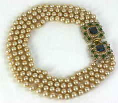 Kenneth Jay Lane Laguna Pearl Necklace 1960
