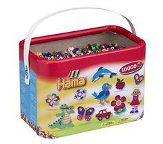 Hama – 10.202-67DE – Baril de 10 000 Perles à Repasser – 22 couleurs