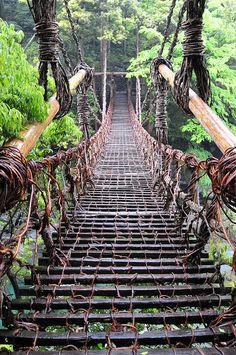 Kazura Bridge, Tokusima, Japan