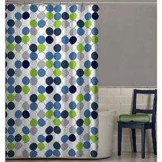 Nu Cirque Fabric Shower Curtain