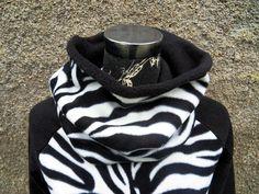 SchlauchSchal  Loop Zebra Streifen Fleece von Zellmann Fashion auf DaWanda.com