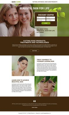 skin care product selling minimal landing page Landing Page Builder, Landing Page Design, Anti Aging Skin Care, Natural Skin Care, Younger Looking Skin, Discount Coupons, Glowing Skin, Your Skin, Web Design
