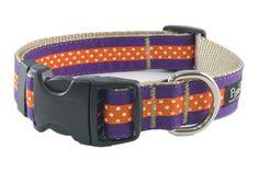 Paw Paws USA - Collegiate - Clemson04 Dog Collar, $24.00 (http://pawpawsusa.com/collegiate-clemson04-dog-collar/)