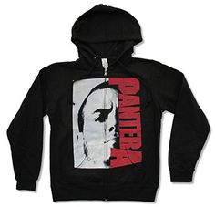 """Juniors Pantera """"Phil"""" Black Zip Hoodie Sweatshirt (Large) * Check this awesome product by going to the link at the image."""