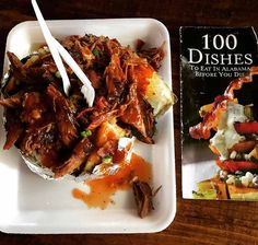 100 Dishes To Eat In Alabama Before You Die-The Pork-Stuffed Tater at Saws in Homewood is my 82cnd dish.  I recommend any BBQ lover put this restaurant on their list. Who would LOVE this stop? Follower's of Saw's BBQ sauce must taste this dish. Carnivores Stomach's that are completely empty or Hearty a…