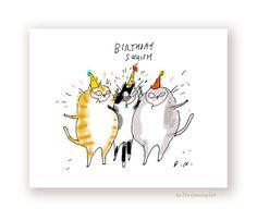 Funny Birthday Card  Birthday Squish  Birthday by jamieshelman
