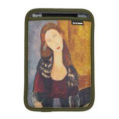 Jeanne Hebuterne portrait by Amedeo Modigliani iPad Mini Sleeve - portrait gifts cyo diy personalize custom