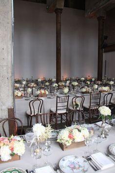 Photography: Angelica Glass Photography - angelicaglass.com/ Event & Floral Design: Hatch Creative Studio - hatchcreativestudio.com Event Planning: Soraya Jollon - sorayajollon.com/  Read More: http://www.stylemepretty.com/tri-state-weddings/2011/10/07/smack-mellon-gallery-wedding-by-hatch-creative-studio/