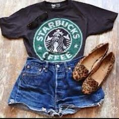 Starbucks Logo Tee - skreened . Love tbis and who dorsnt love starbucks ?