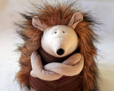 Grumpy Hedgehog stuffed animal toy for children por andreavida, €27.00