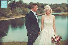 "@amsale ""Ryan"" -  Silk taffeta natural waist ballgown with corded lace bodice l Tabitha Photography"