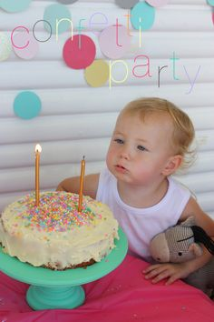 confetti party cake blowing text @ Jetjes & Jobjes