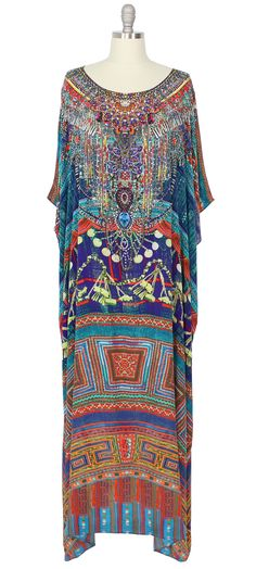 Camilla Long Round Neck Caftan