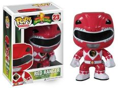 Amazon.com: Funko POP Television: Power Rangers Red Vinyl Figure: Toys & Games
