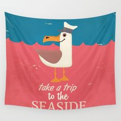 Buy Take a trip to the seaside vintage travel poster Wall Tapestry by Nick's Emporium Gallery. Worldwide shipping available at Society6.com. Just one of millions of high quality products available.
