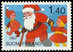Joulupostimerkki 1987 1/2 - Joulupukki