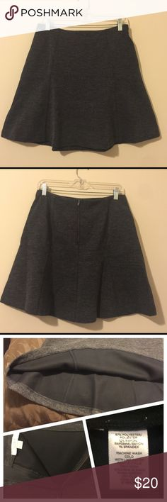 "💕Dark Gray Loft Circle Skirt Like new, worn 1x. Ann Taylor Loft slate gray circle skirt. Very stunning.  Size 10. Zips in back. Thick & great for upcoming season. Machine washable. See material & care tag in photos. Approximate measurements below.   🌟18.5"" Length 🌟32.75"" Waist 🌟Fully lined 🌟Pet free/smoke free - Clean Home! ❤️ See my Love Notes - next day shipper❤️ LOFT Skirts"