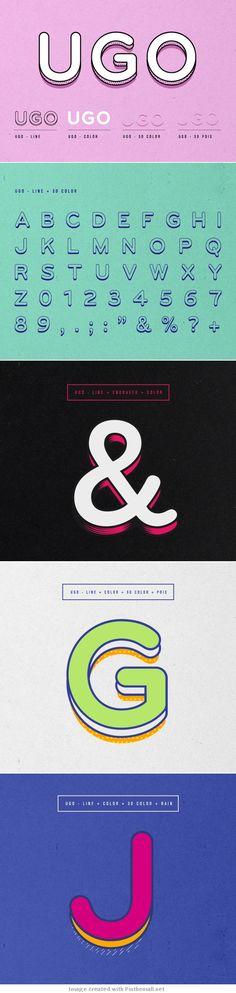 UGO :: Free font