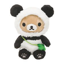 New San-X Rilakkuma Panda Plush Stuffed Doll Kawaii Toy Free Shipping from JAPAN