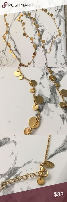 Gold chain necklace Gold chain necklace with shiny gold circles. Can be worn long or doubled for a layered look Lia Sophia Jewelry Necklaces